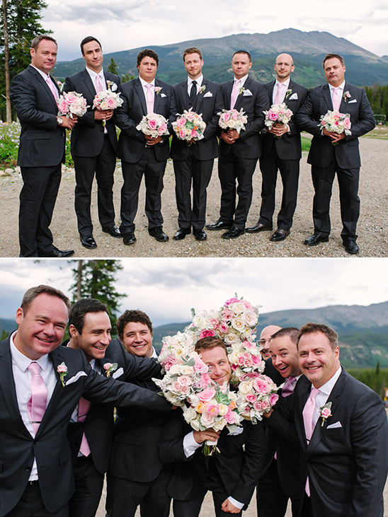 pink and gray groomsmen ideas