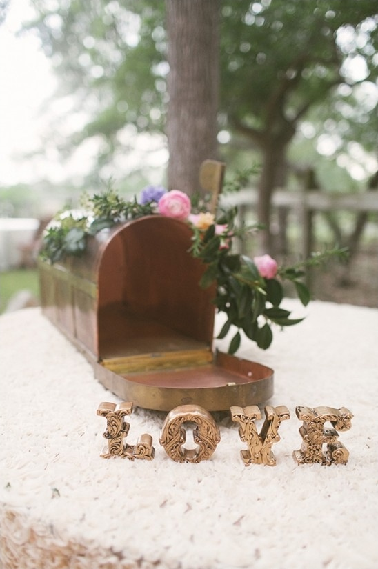 love note mailbox for letters to the bride and groom