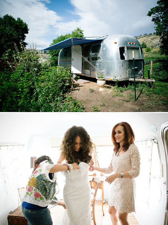 get wedding ready in an airstream