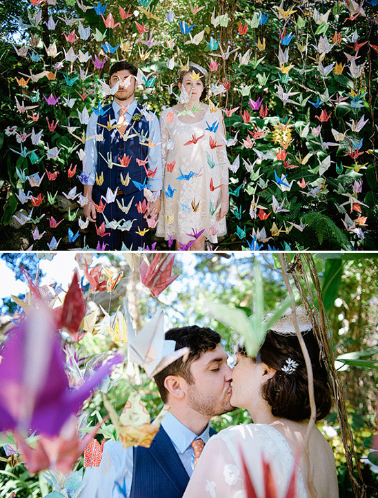 paper crane wedding ideas