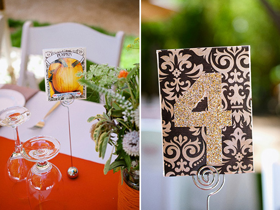 seed packets double as table numbers