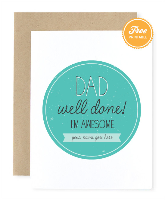 Free Father's day Printable Card