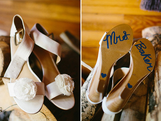 sentimental wedding shoes