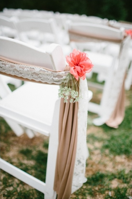 lace and floral aisle decor