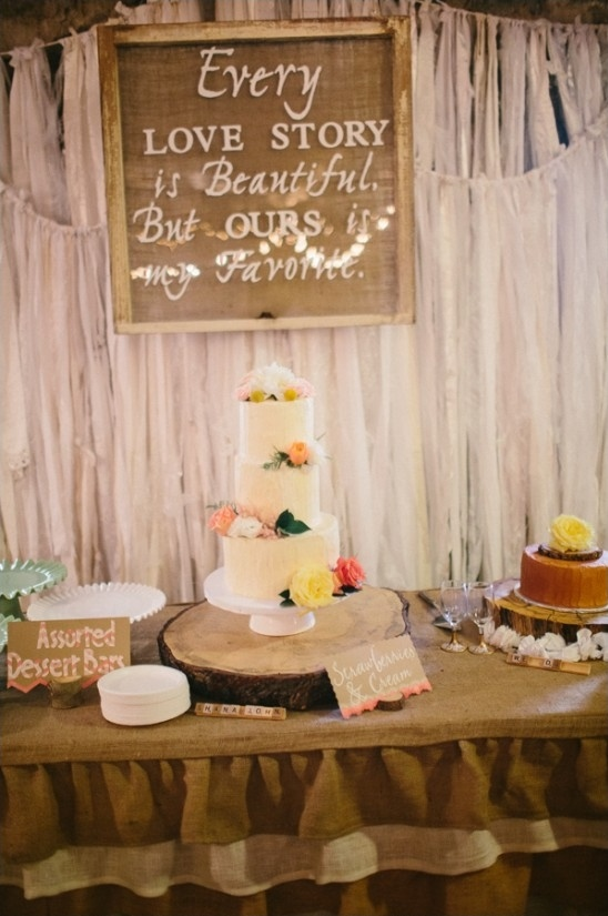every love story is beautiful but ours is my favorite dessert table sign