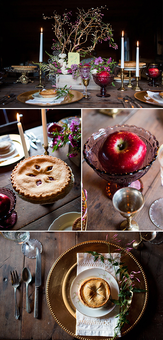 red apples and pies