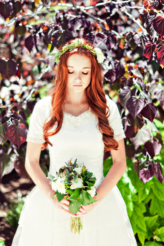 beautiful red hair and natural bridal looks