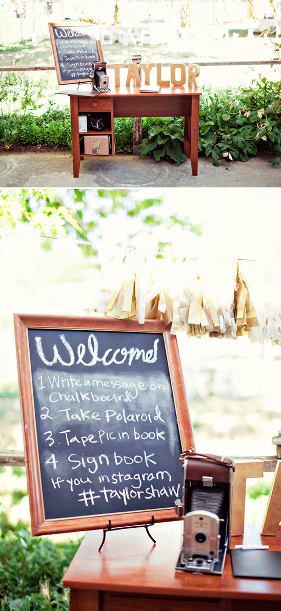 polaroid guestbook table ideas