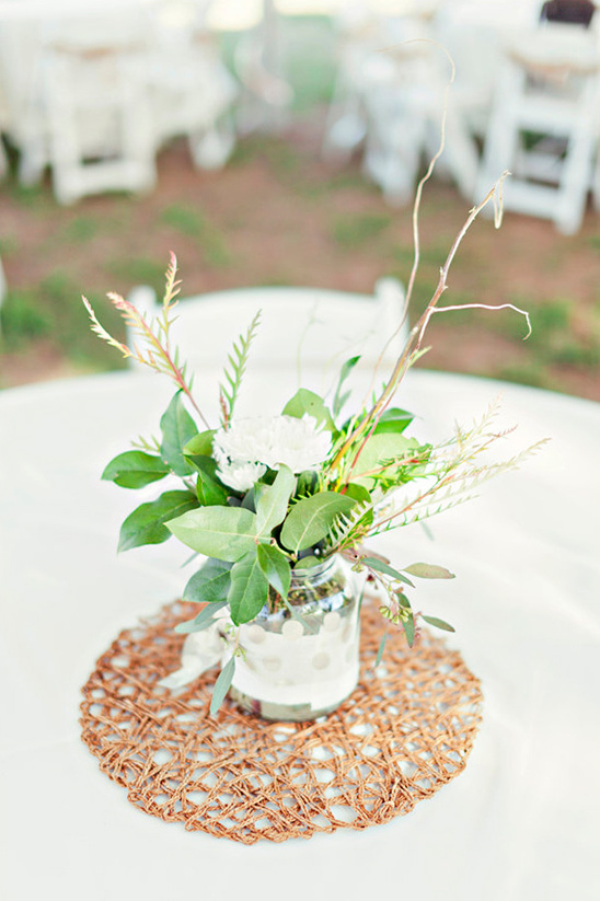 lovely greenery centerpieces