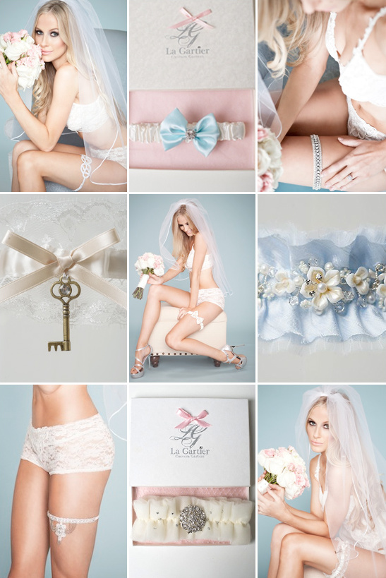 wedding garter from La Gartier