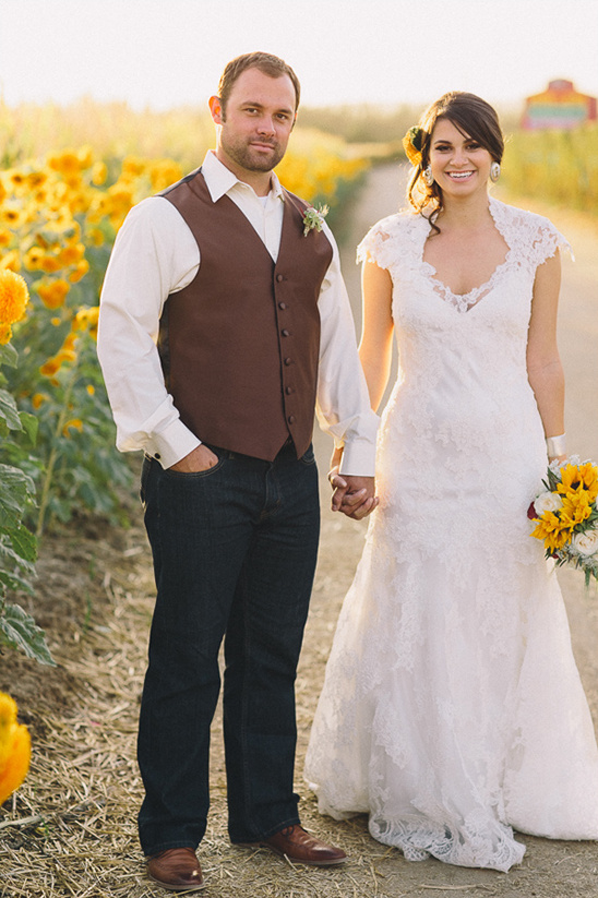 Lace and Burlap Wedding Dress