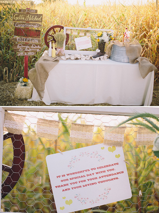 rustic welcome table idea