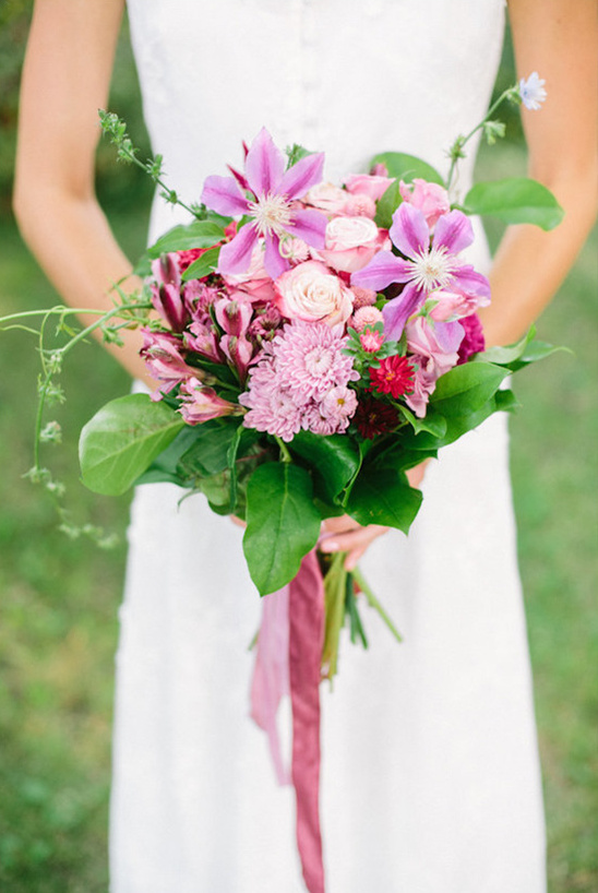 simple purple wedding bouquet