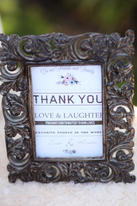 framed thank you