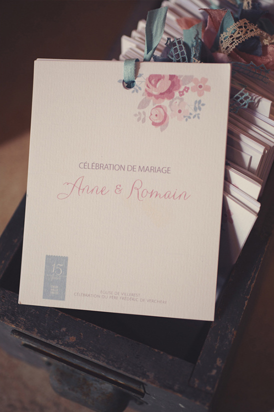 French wedding programs