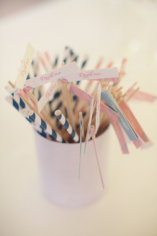 straws with flags