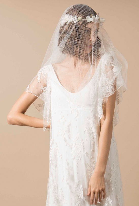 Lace Wedding Gown by Delphine Manivet