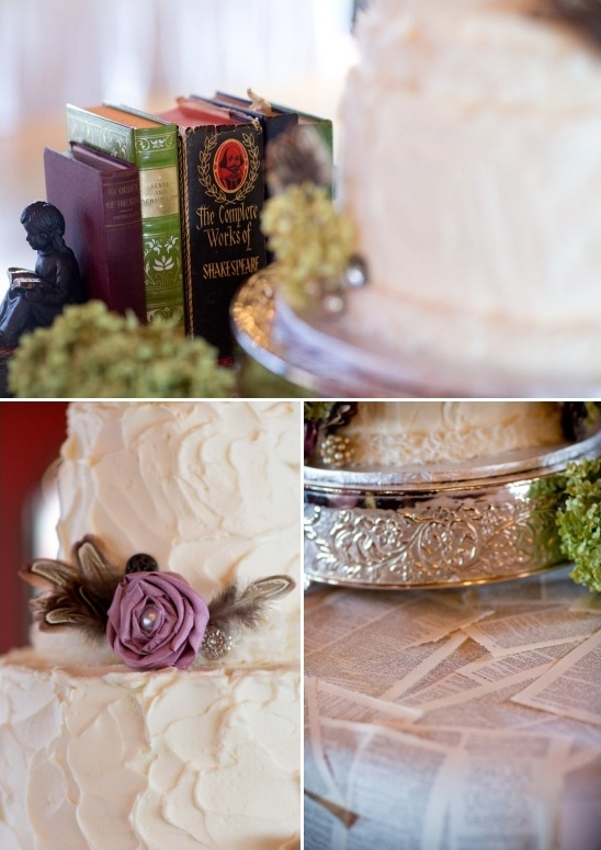 book cake table decor