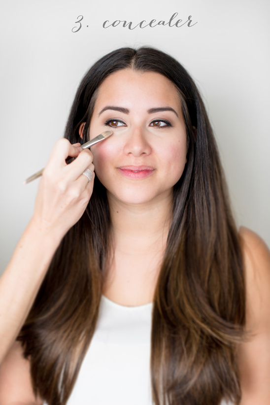how to put on your concealer for your wedding