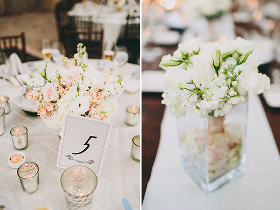 pink and white floral pieces