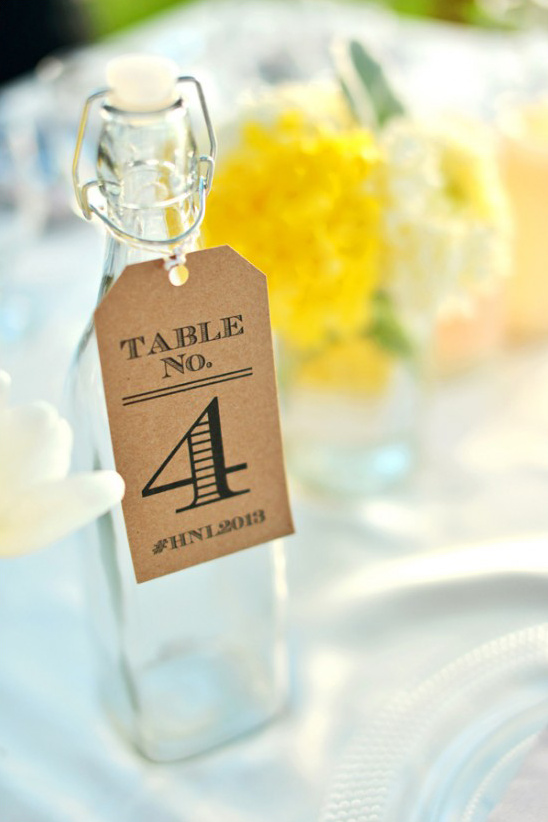 bottle tag table numbers