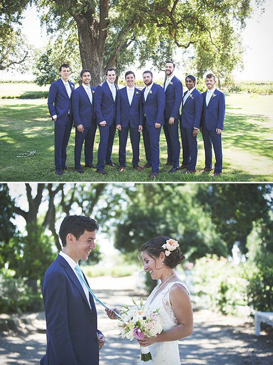blue and mint groomsmen attire