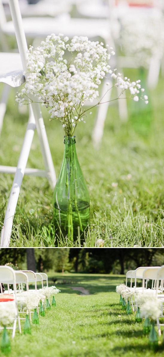 simple and easy aisle decor idea