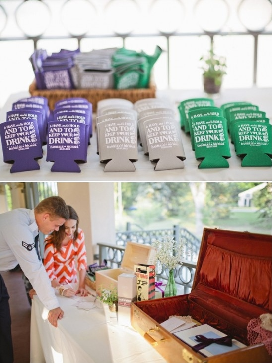 drink koozie wedding favors