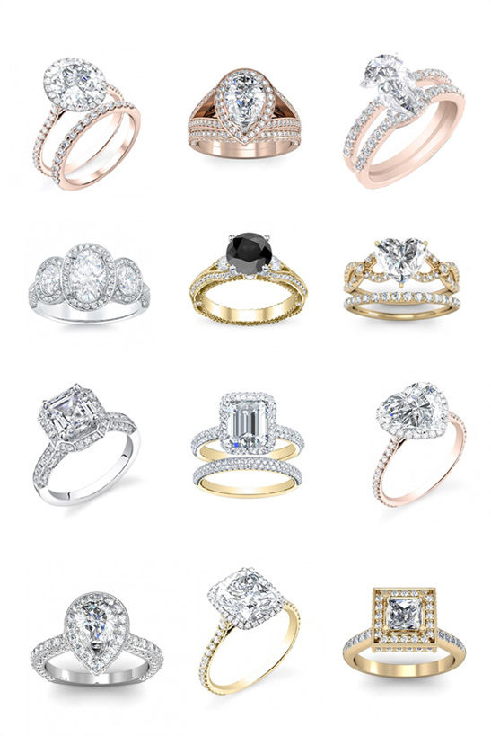 engagement rings for the glamorous bride