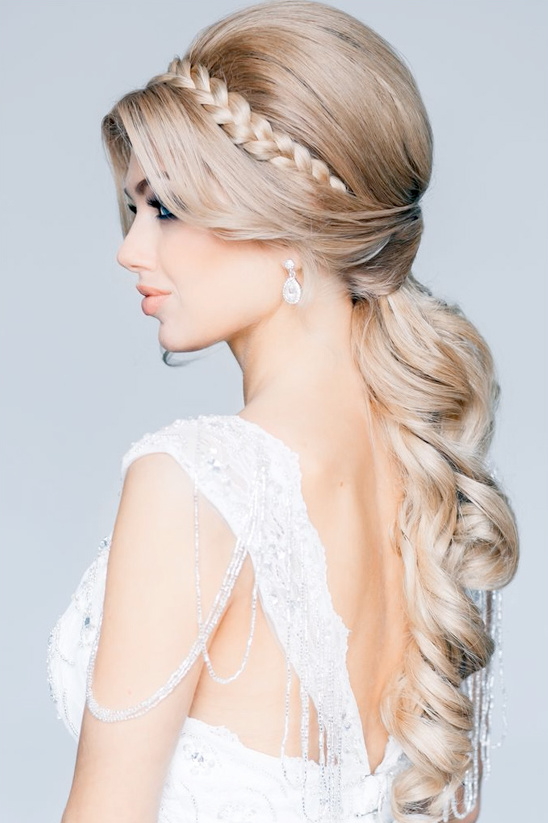 Glamorous braided wedding hair