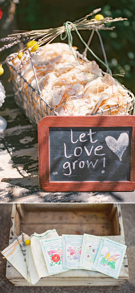 let love grow seed packets favors