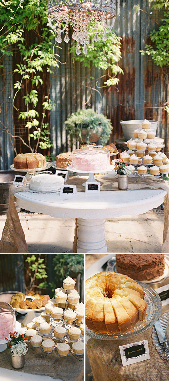 bridal shower cake table idea