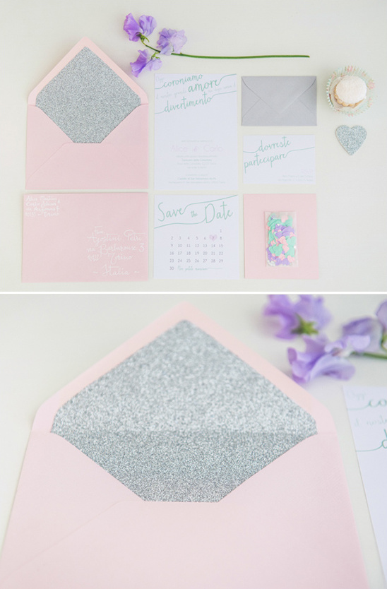 silver lined envelope