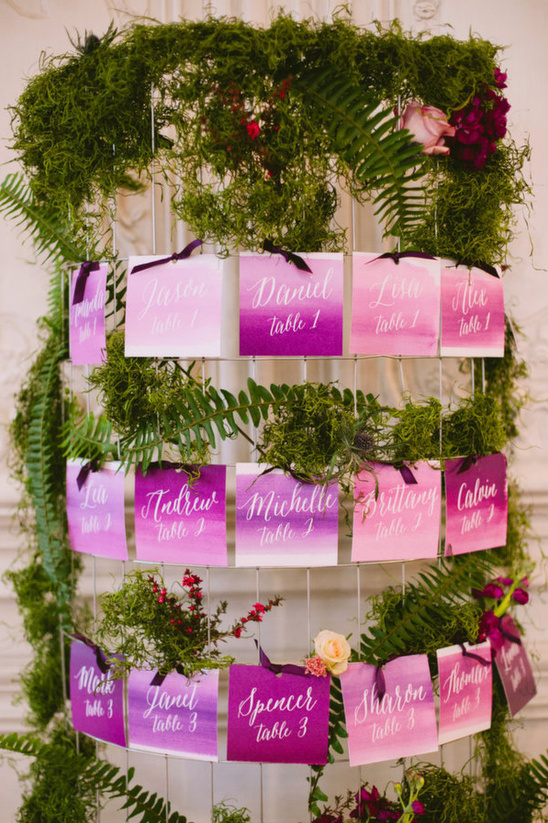 radiant orchid escort cards