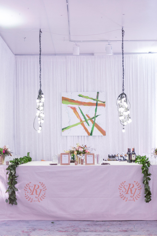 monogrammed table cloth bar