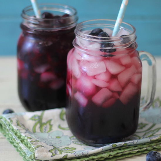 Skinny Blueberry Spritzer recipe