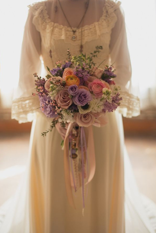 Victorian wedding bouquet
