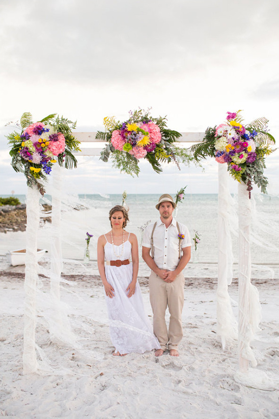 Boho chic beach wedding for Wedding dress for beach ceremony