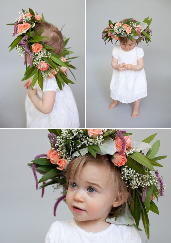 4 step floral crown diy
