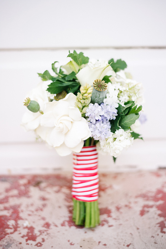 red white and blue bouquet