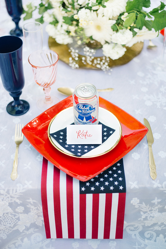 forth of july place setting