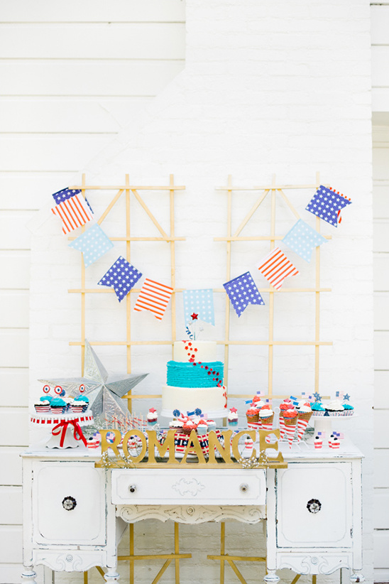 fourth of july inspired dessert table