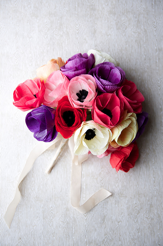 diy paper anemone bouquet