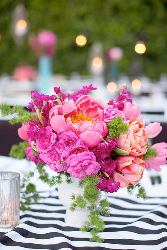 peony wedding centerpiece