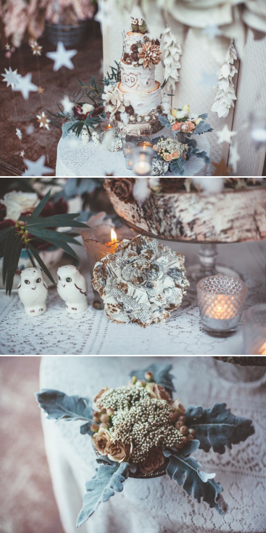 vintage cake table decor