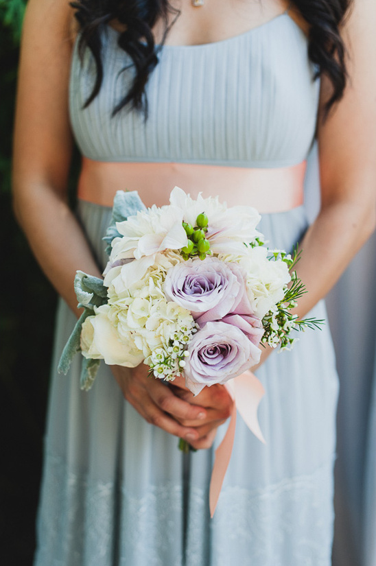 purple rose and white bouquet
