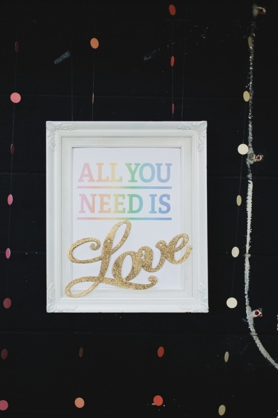 all you need is love cake table sign