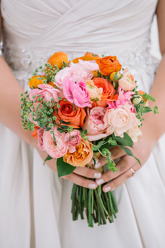 warm color palette bouquet