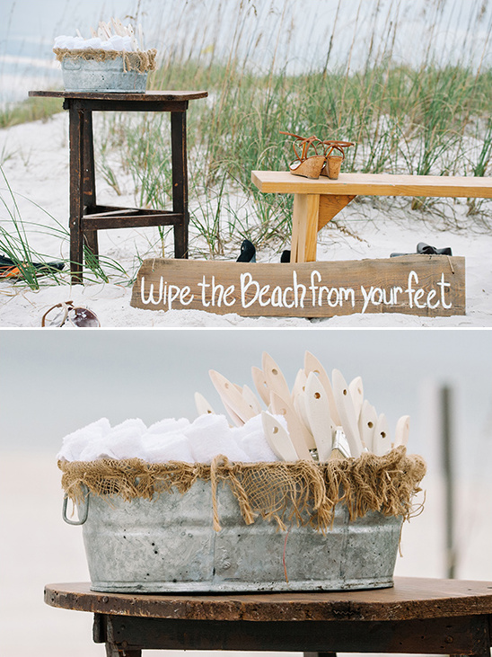 wipe the beach from your feet sign