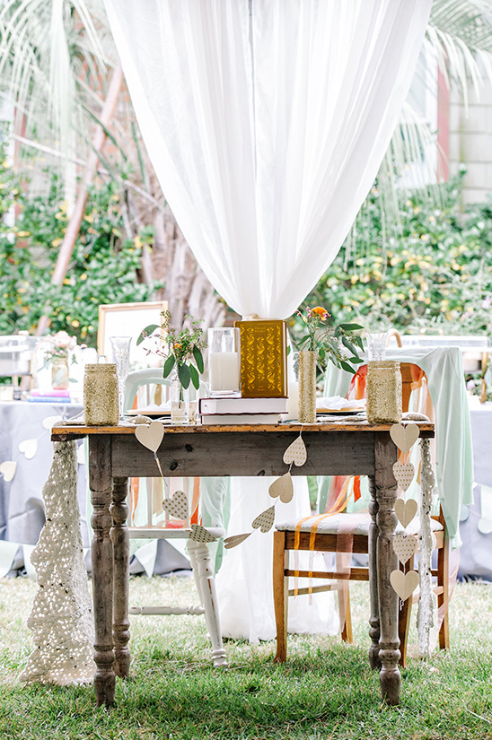 vintage sweetheart table